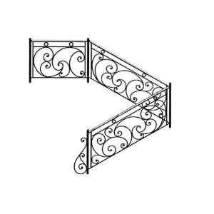 Кованые лестничные ограждения