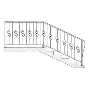 Перила для лестниц из металла