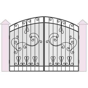 Ворота в жилом доме