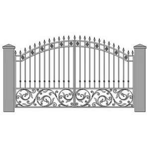 Ворота распашные чертеж