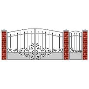 Ворота распашные с калиткой СПб