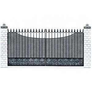 Ворота с зашивкой из поликарбоната