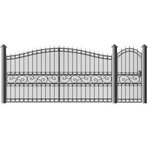 Ворота для дачи распашные с калиткой