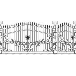 Ворота перед домом распашные